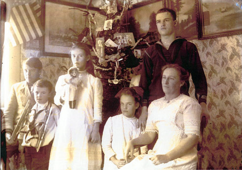 A photograph of the Perkins (?) Family.